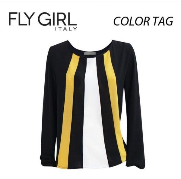 Flygirl Langarm Bluse