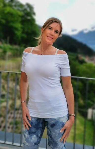 Flygirl T-Shirt Carmen Ausschnitt