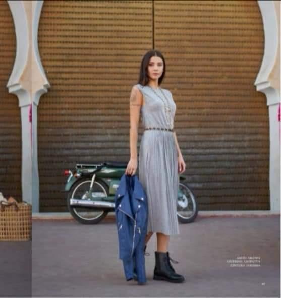 Sommerkleid mit Baumwoll Anteil - grau