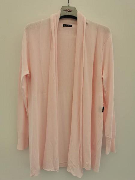 Offener Long Cardigan - rosa