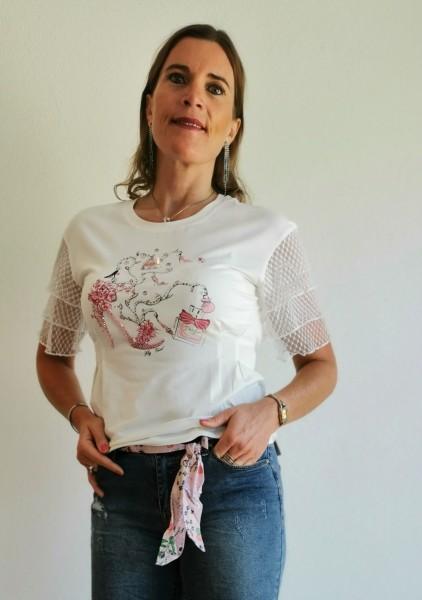 Flygirl T-Shirt mit Spitze