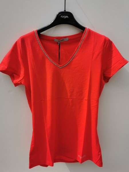 Flygirl T-Shirt mit Strass