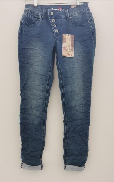 Buena Vista Malibu Jeans schmal zulaufendes Bein im 5 Pocket Style middle blue