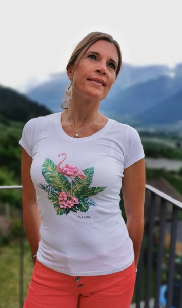 Flygirl T-Shirt Flamingo
