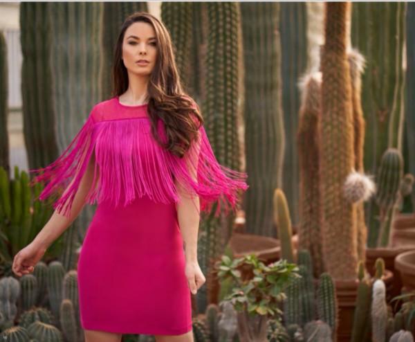 Exclusives Sommerkleid - pink